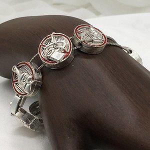 Unsigned Slide Charm Bracelet Prohibition Signs